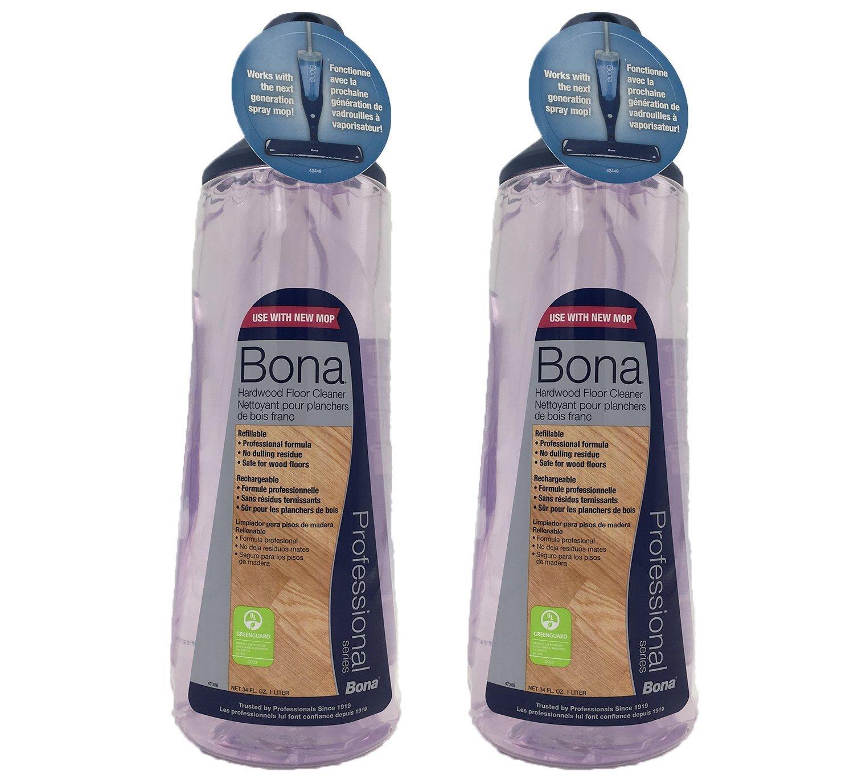 Bona Pro 34 Oz Hardwood Floor Cleaner Refill Cartridge, Premium No-Residue Formula, Ready-to-Use Cartridge For Bona Hardwood Floor Spray Mop, Cleans Dirty, Smudged Wood Floors (Pack of 2)
