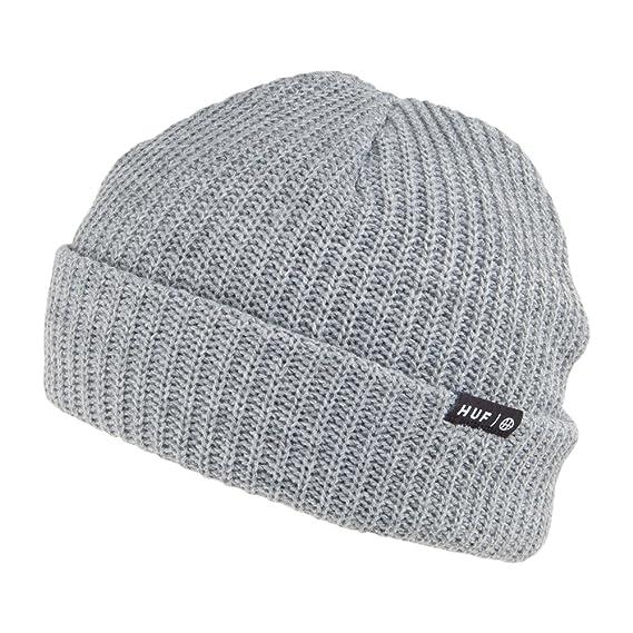 ef5aa2d9b46 HUF Usual Beanie Hat - Grey 1-Size  Amazon.co.uk  Clothing