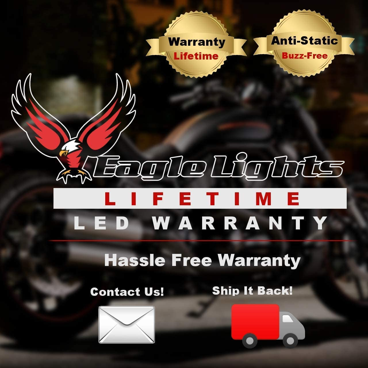 Black Adapter Harness Eagle Lights 9100B-897 7 inch LED Headlight with Halo Ring for Harley Davidson Motorcycles with 2014