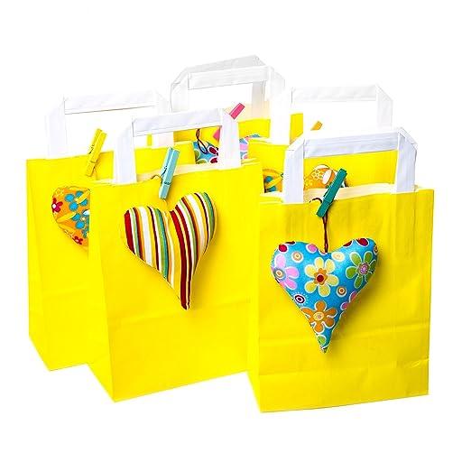 5 pieza amarillas bolsas de papel Bolsas de regalo con ...