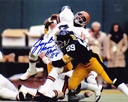 0dec04019 Jack Ham Pittsburgh Steelers Hall of Fame 88 Action Autographed Signed 8x10