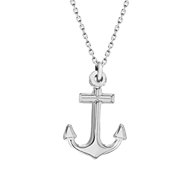 Tuscany silver sterling silver anchor pendant on chain necklace of tuscany silver sterling silver anchor pendant on chain necklace of 46cm18 aloadofball Images