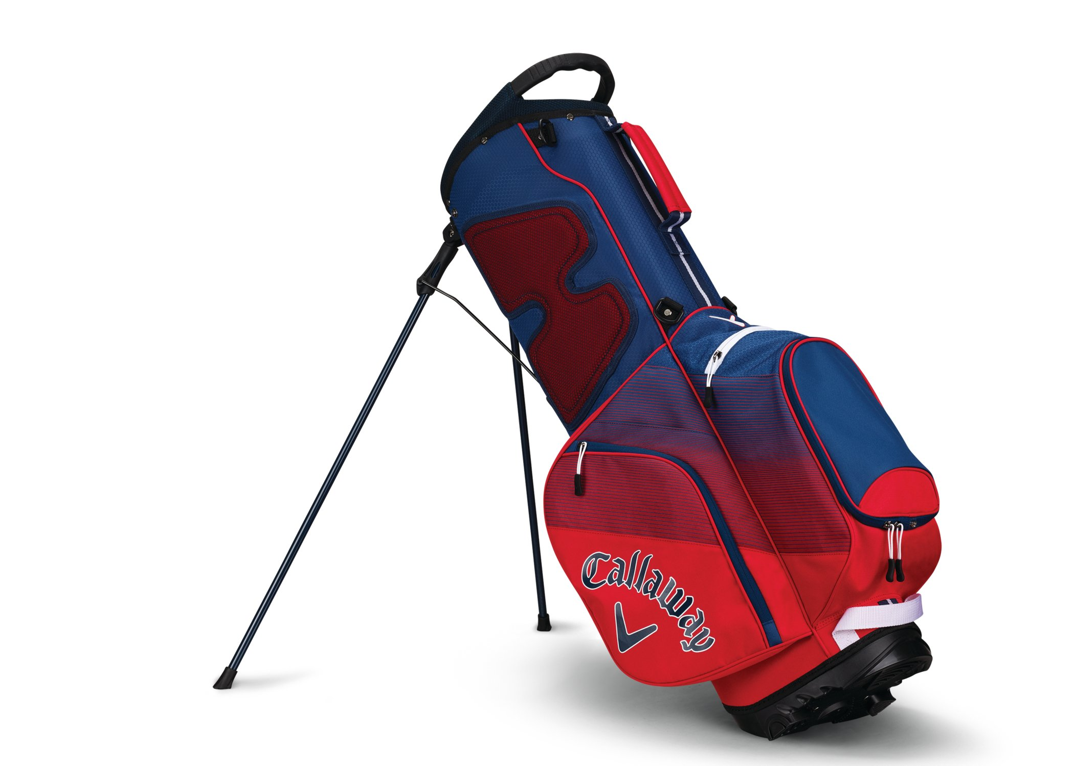 Callaway Golf 2018 Chev Stand Bag, Red/ Navy/ White