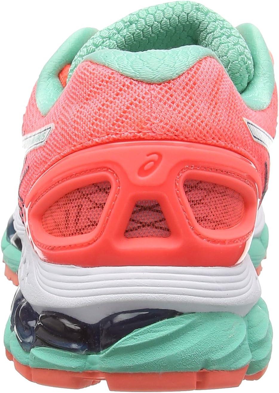 ASICS Gel-Nimbus 17 - Zapatillas de Running para Mujer, Color Rojo (Flash Coral/White/Indigo Blue 0601), Talla 35.5 EU (3 UK/5 US): Amazon.es: Zapatos y complementos