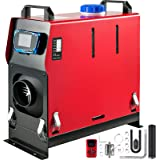 Happybuy 8KW Diesel Air Heater All in One 1 Air Outlet Diesel Heater 12V Remote Control Parking Heater Silencer with Blue LCD Switch for RV Trucks Bus and Trailer