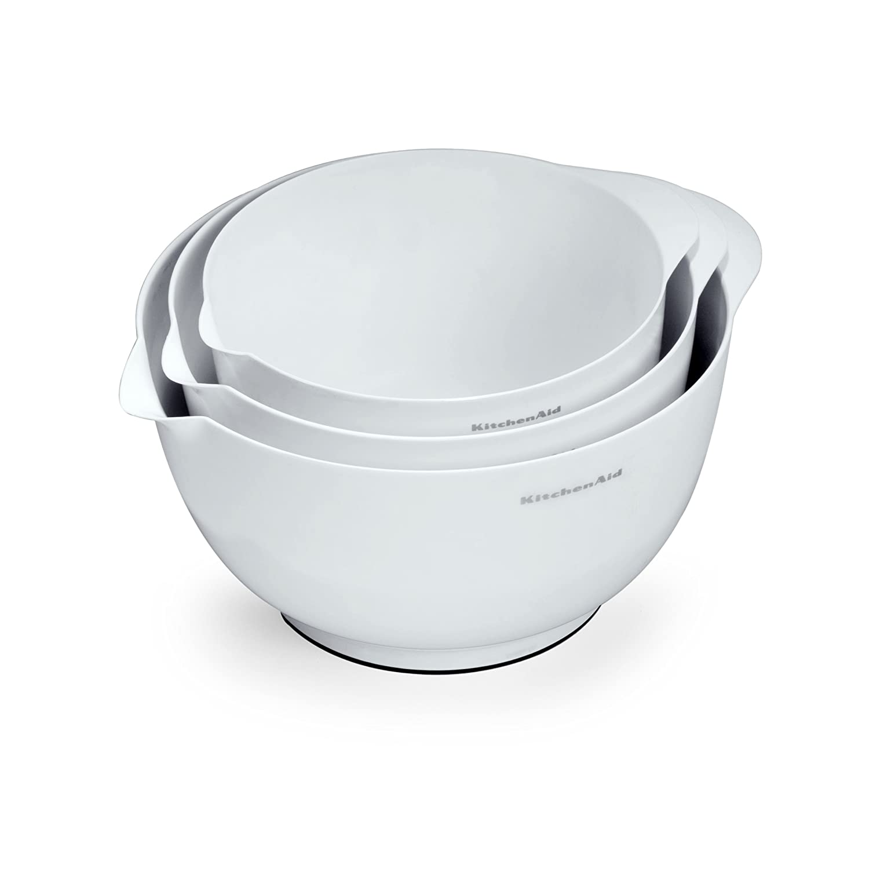 KitchenAid Classic Mixing Bowls, White, Set of 3
