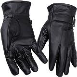 Niksa メンズ手袋 羊革 裏起毛 防寒 メンズ 厚い 冬 肌触りが良い 化粧箱が付き L-XL NK02STN2