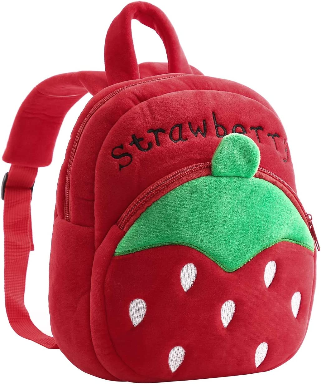 Abhay Girls Strawberry Backpack Fashion,Shool Women Strawberry Bag Travel,Cute Bookbag For Girls Party Supplies (strawberry)