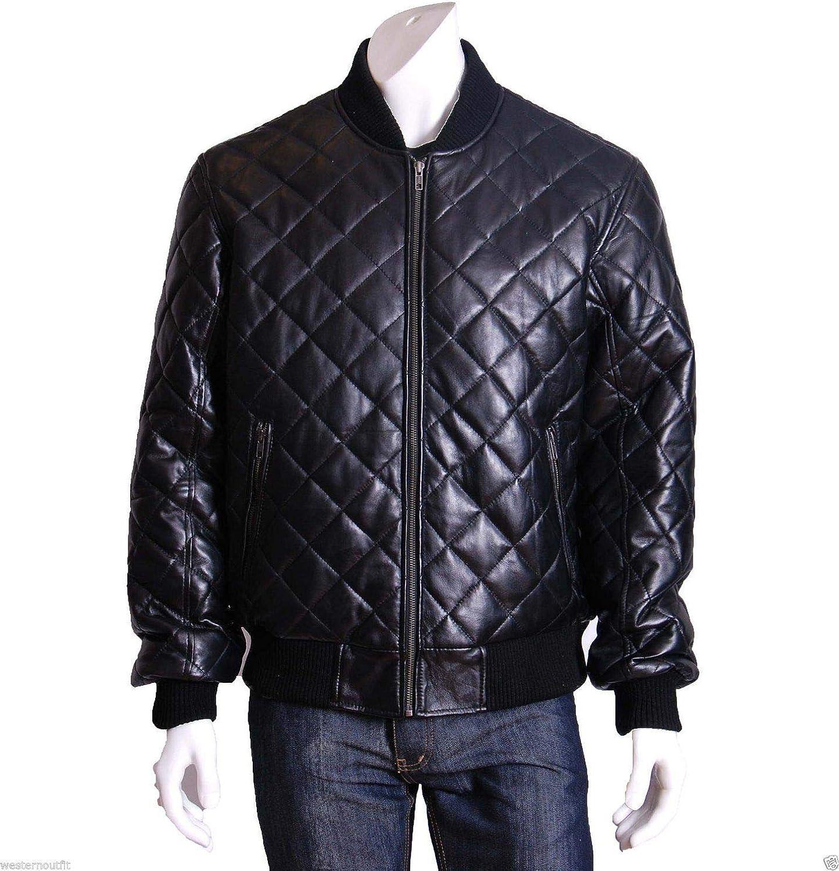 brandMe Mens Genuine Leather Pure Lambskin Biker Jacket MM088