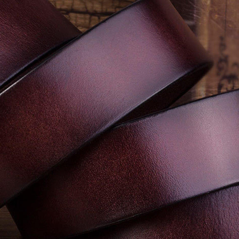 NOTAG Mens Belt Classic Ratchet Click Belt Genuine Leather Dress Belt