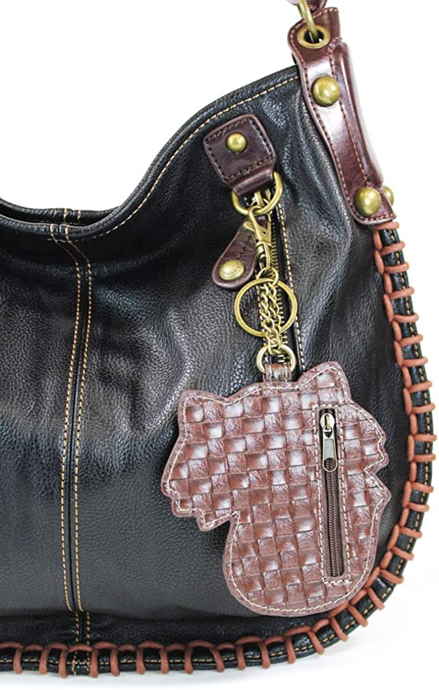 CHALA Handbags Charming Crossbody or Shoulder Convertible Large Chala Purse BLACK