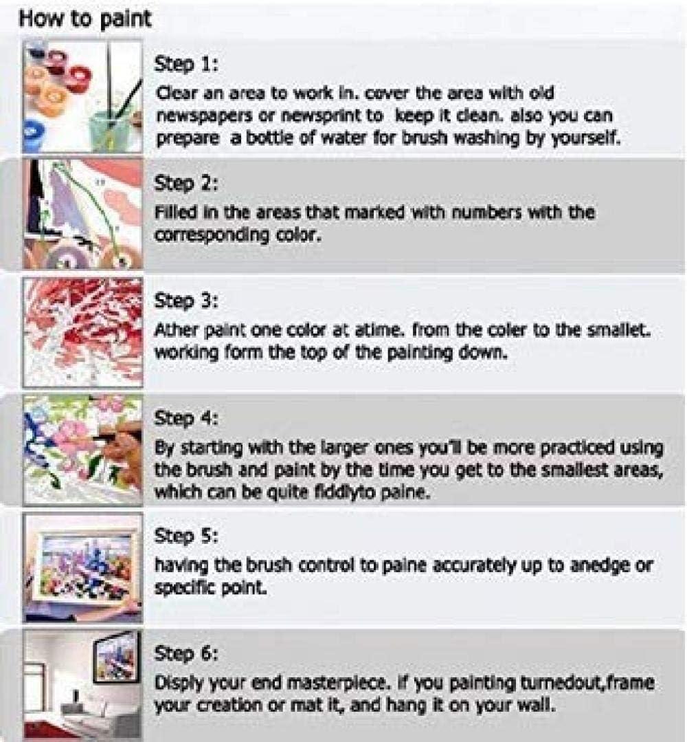 JFAFJ Dipingere con i Numeri Coniglio DIY Oil Painting Paint by Number Kit per Adulti e Bambini Principianti 16 20 Pollici Natalizie Decorazioni Regali Senza Cornice