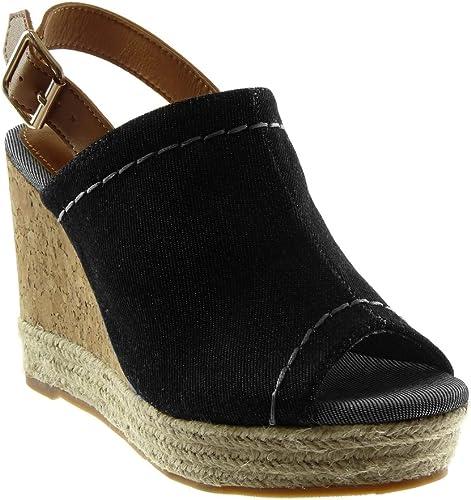 Angkorly Damen Schuhe Mule Sandalen Peep Toe