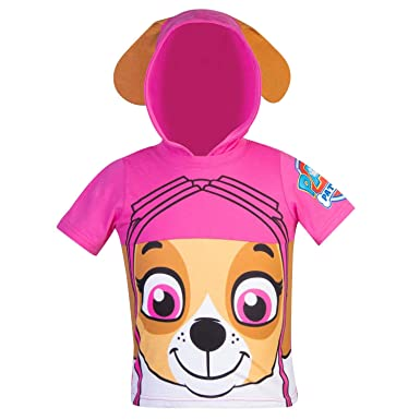 Amazon.com  Nickelodeon Paw Patrol Hooded Shirt  Skye 91ba84387b
