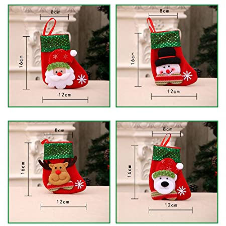 Dream Loom Kleine Weihnachtsstrümpfe, Ein Satz von 4 Muster ...