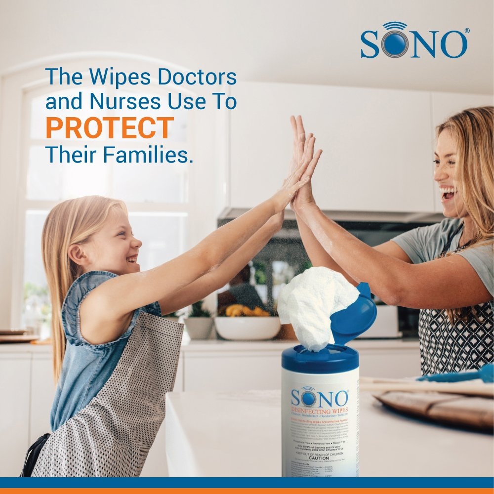 6-Pack Medical Grade Disinfecting Wipes – Bleach-Free, Multi-Surface Wipes Used By Healthcare Professionals (6 Packs of 80 Wipes) by SONO (Image #7)
