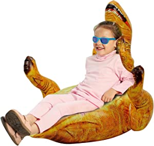 Inflatable Children's Chair Dinosaur Creative World 3D Dinosaur Chair Inflatable Chair for Kids ,Air Sofa Great for Both Indoors and Outdoors Play to Game, Bedroom Living Room and Playroom.