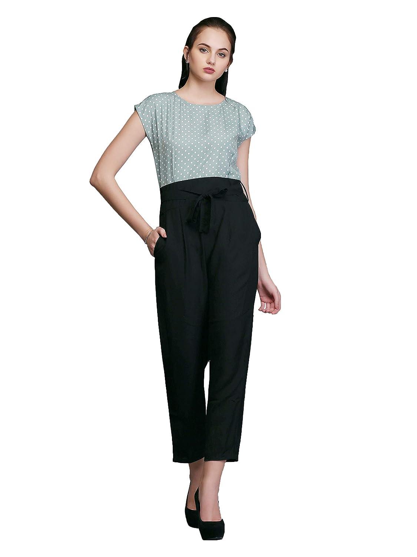 b5543f78bc3 Eavan Women s Black   Green Jumpsuit - EA3375  Amazon.in  Clothing    Accessories