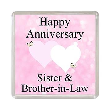Amazonde Happy Anniversary Kühlschrank Magnet Schwester