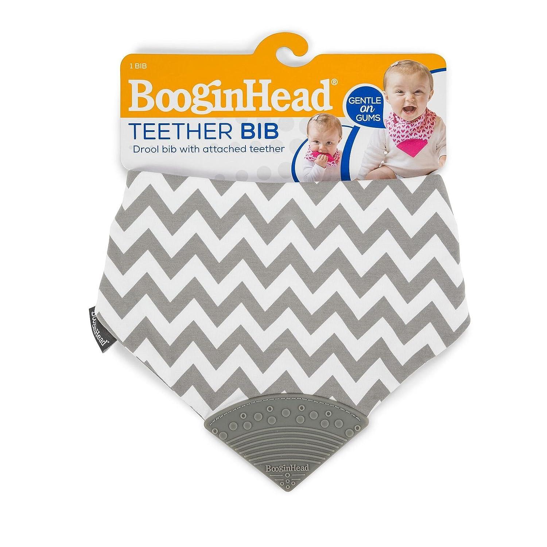 Blue//White BooginHead Bandana Teether Bib