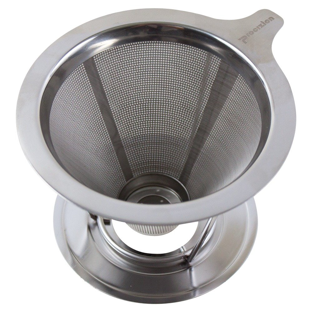 Pour Over Coffee Maker, Dripper Made of Stainless Steel, Paperless Reusable Coffee Filter, Single Cup Brewer by Procizion