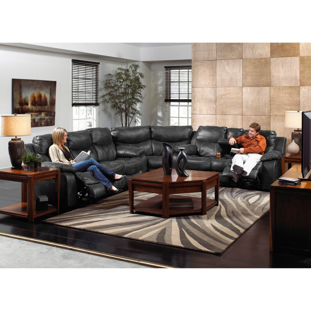 Amazon Catnapper Catalina Leather Reclining Sectional