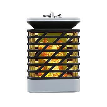 Mianbaoshu Led Solar Laterne Ip55 Wasserdichte Gartendeko Rattan