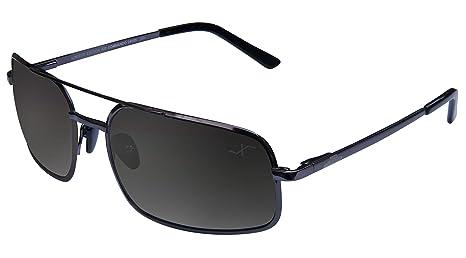 Xezo Pure Titanio polarizadas UV 400 tamaño Grande de Alto Gafas de Sol, Negro, Cromo, Cromo Negro, 20 g/0,7 oz