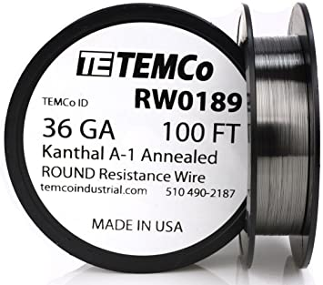 Kanthal A1 36 Gauge Resistance Wire AWG 100 ft Lengths
