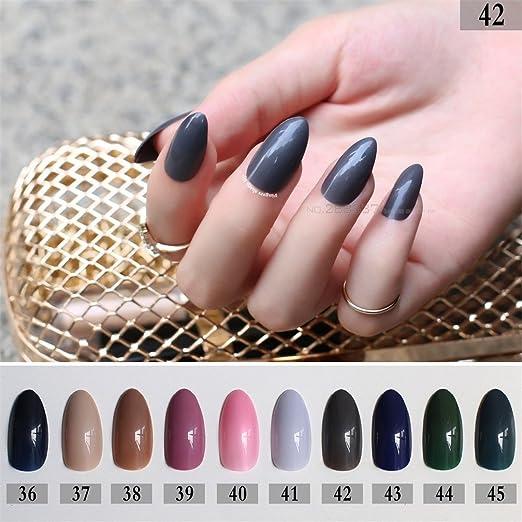 Amazon.com: Rosa Full puntas de uñas Caqui azul punta ...