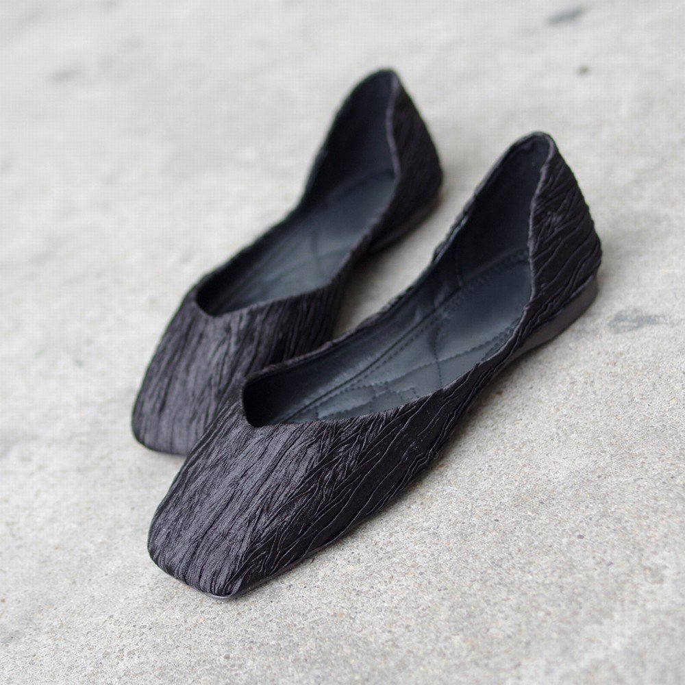 Noir SED Chaussures Décontractées Bouche Peu Profonde Carré Doux Ballet Sauvage Sauvage Chaussures Paresseuses