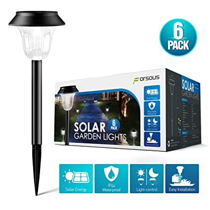2018 New Arrival Lawn Lamps Solar Powered Led Garden Lights Automatic Led For Patio Yard Garden Lampshade Cover Light Attractive And Durable Lights & Lighting