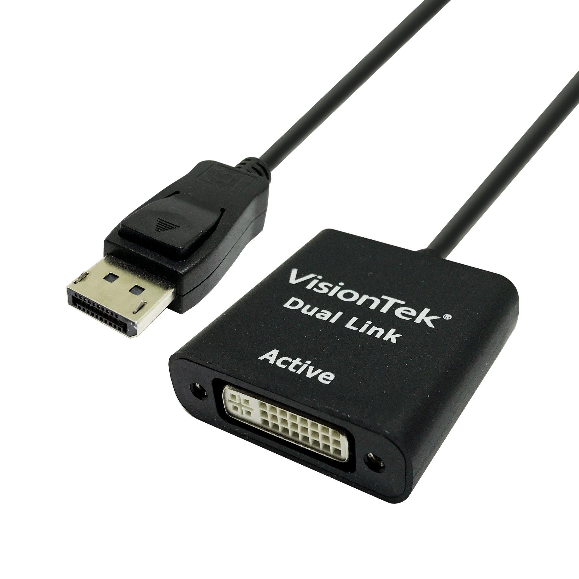 VisionTek DisplayPort to Dual Link DVI-D Active Adapter (M/F) - 900639 by VisionTek Products