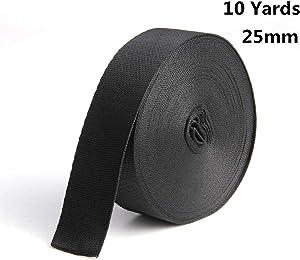 sansheng Polypropylene Webbing,for Lawn Chairs, Hammocks, Towing, Outdoor Climbing and DIY Making Luggage Strap,Backpack Repairing(1InchW x10Yards)