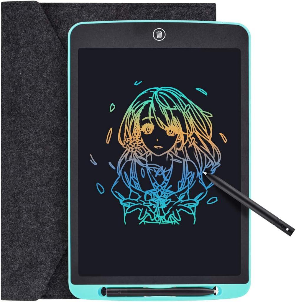 Funkprofi Bunte 12 Zoll LCD Writing Tablet mit Anti-Clearance Funktion und Dicke Linien LCD Schreibtafel Blau Grafiktabletts Schreibplatte Papierlos f/ür Schreiben Malen Notizen als Geschenk