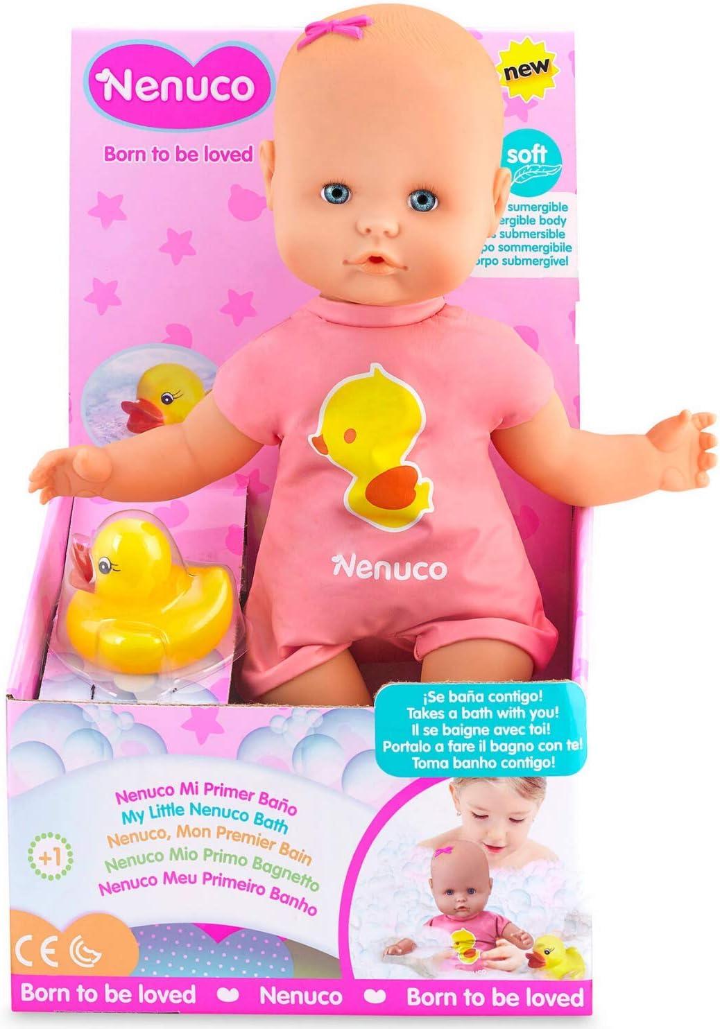 Nenuco - Mi primer baño, cuerpo impermeable para poder meterlo en el agua, para niños a partir de 1 año (Famosa 700014070)
