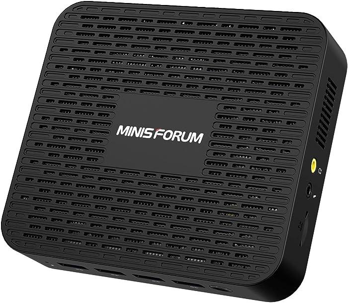 Mini PC Windows 10 Pro 8GB LPDDR4 128GB SSD Intel Celeron Processor J4125 Quad Core(up to 2.7GHz),4X USB 3.0 Ports,2X Gigabit Ethernet,Digital Mic,4K HDMI 2.0/DP Port,Dual Band Wi-Fi,BT 4.2