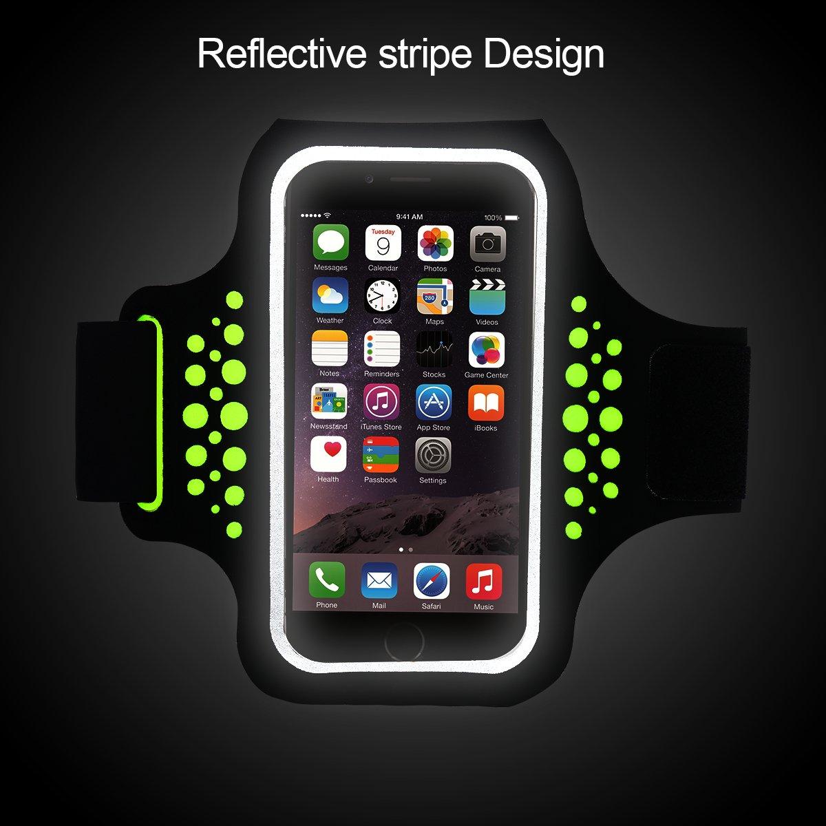 Samsung Galaxy HTC /… Cinturino Regolabile Bracciale Sports Armband per iPhone 6//6s//7//8 LG Huawei G2 Fascia Braccio Sportiva Running Xiaomi Resistente Acqua