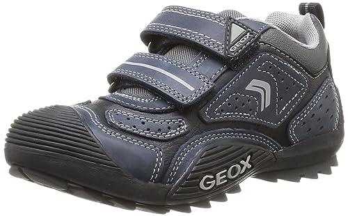 Zapatos grises con velcro Geox Savage infantiles obNOP6Onm