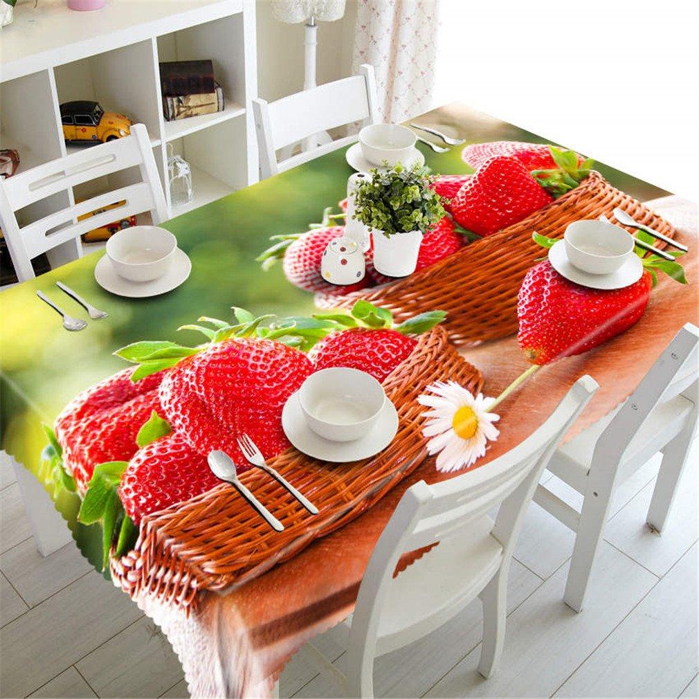 Couleur 6 180cm X 270cm Raisin Fruit Pattern 3D Nappe Polyester étanche Rectangulaire De Table De Table Couleur 7 150cm X 230cm