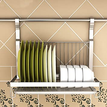 asunflower dish drain rack foldable stainless steel dish drying holder wall mount organizer dish