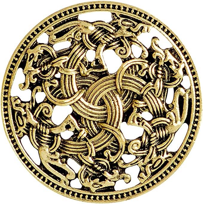 Viking Cloverleaf Brooch Viking Jewelry Medieval Brooch Bronze Brooch Triangle Brooch