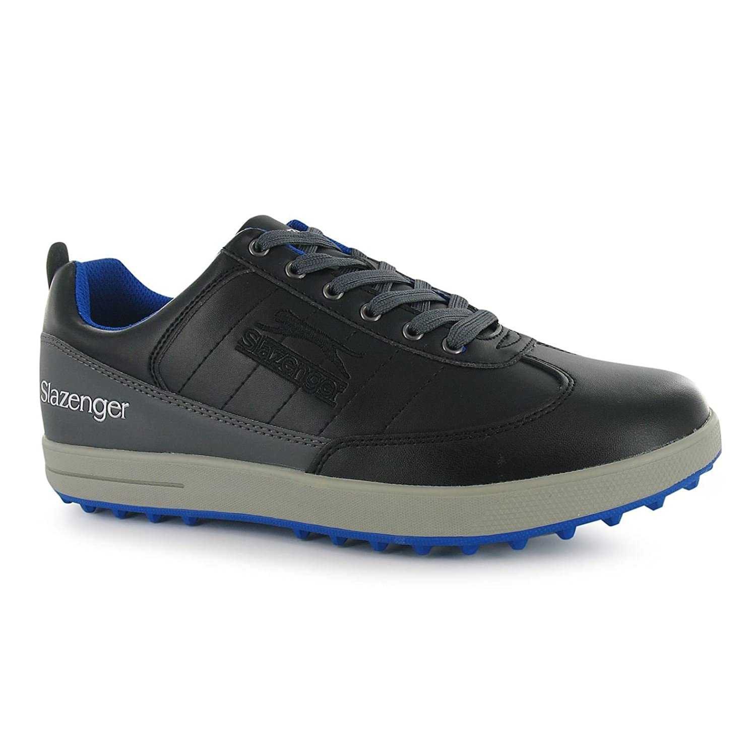 94b553495e17 Slazenger Mens Casual Golf Shoes Padded Collar Lace Up Sports Footwear  Black UK 10 (44