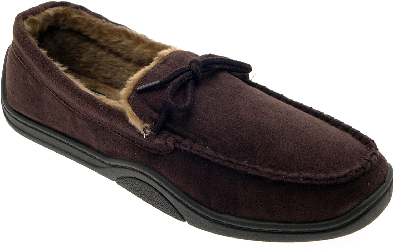 Mens soft sole suede sheepskin moccasin slipper warm size 8 made in england