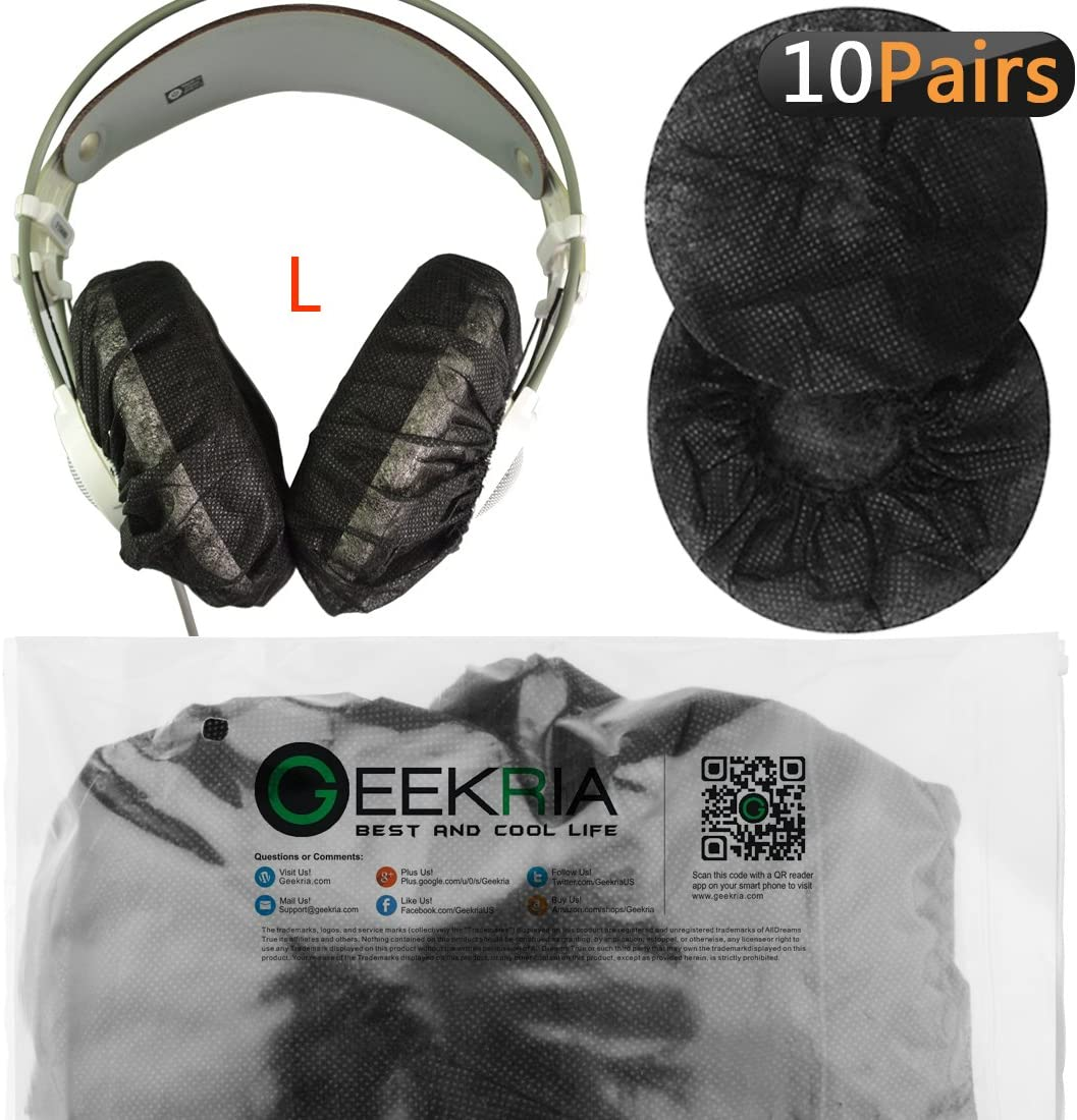 DT660 DT880 DT990 Geekria Large Stretchable Headphone 200PCS Earpad Covers//Disposable Sanitary Earcup Fit Beyerdynamic T1 Sony MDR-Z1R Headphones DT770 100Pairs, Black