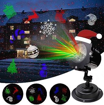 Luces de la decoración de la Navidad de la lámpara de la proyección del LED, proyector de la Navidad de Airlab con el efecto de 12 luces para la ...