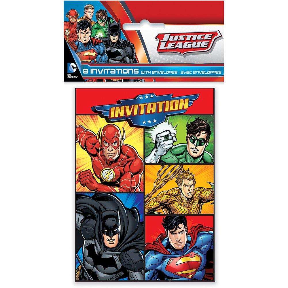 Amazon.com: Unique Justice League Invitations, 8ct: Toys & Games