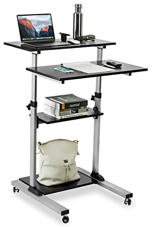 Amazoncom MountIt Mobile Stand Up Desk Height Adjustable