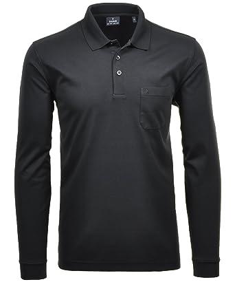RAGMAN Herren RAGMAN langarm Poloshirt mit Zip