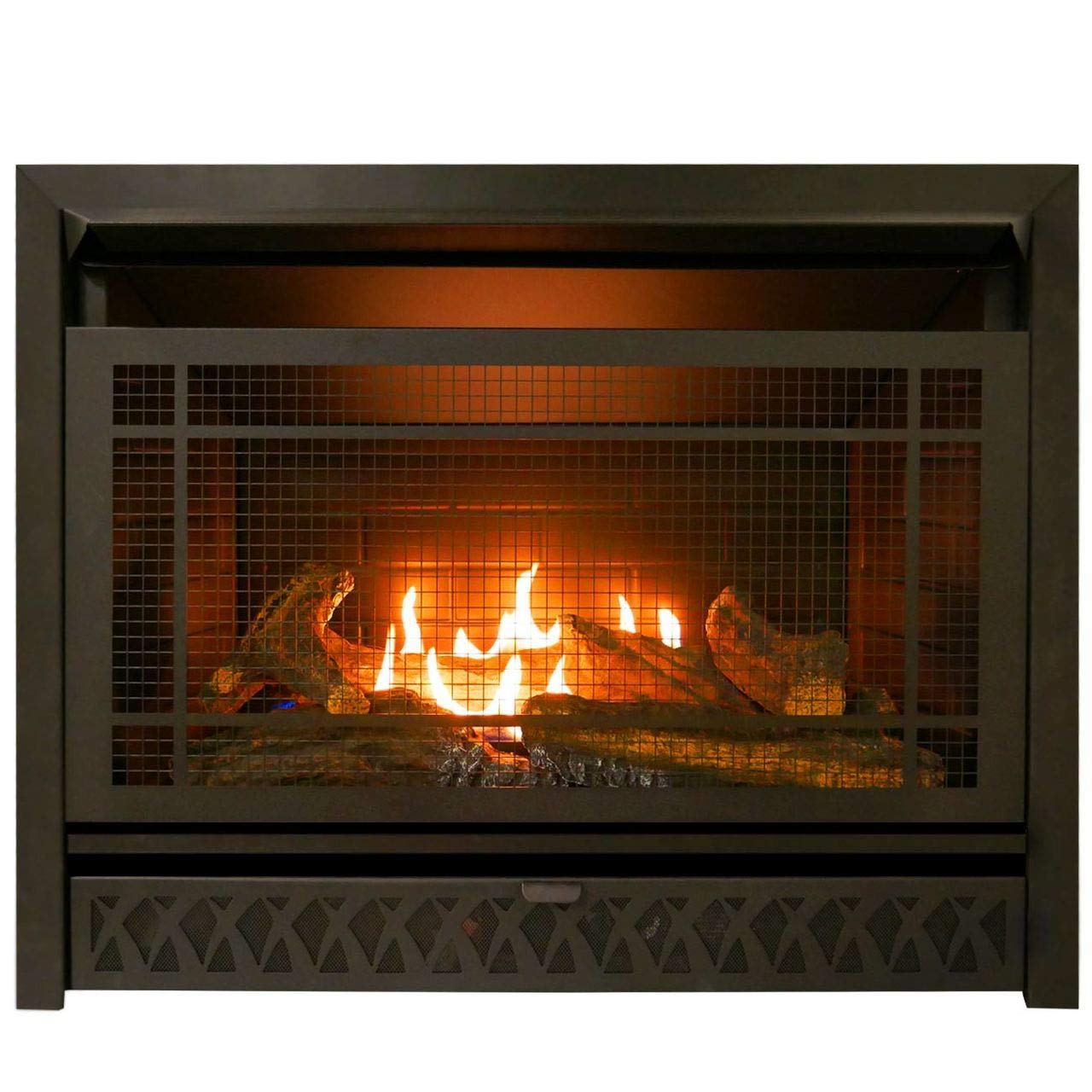 ProCom 29 Inch Vent-Free Dual Fuel Firebox Insert FBNSD28T Gas Fireplace, Large, Black by ProCom